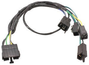 1970-71 Chevelle Radio & Speaker Harness Mono Radio: Single Front/Rear Speakers w/o AC