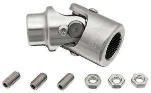 "1964-77 Chevelle Steering Column Accessory (Tilt Steering) Shaft To Steering Box 13/16"" - 36 X 3/4"" - DD Billet U-Joint"