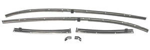 1969 Chevelle Roof Rail Weatherstrip Channels
