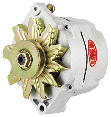 1954-1976 Cadillac Alternator, Performance - 12si (100-Amp, Internal Regulator) with Natural Finish, by Powermaster