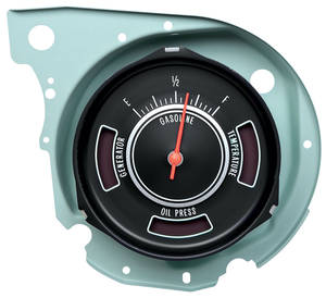 1969-1969 Chevelle Gauge, Fuel w/Warning Lights