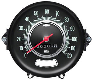 1969 El Camino Speedometer w/o Speed Warning