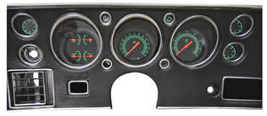 1970-1972 El Camino Gauge Conversion Kit, 1970-72 140 Mph Speedometer / 8,000 Rpm Tachometer G-Stock, by Classic Instruments