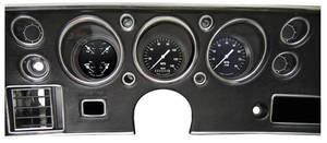 1970-72 Monte Carlo Gauge Conversion Kit 140 Mph Speed. / 8,000 Rpm Tach. (Hot Rod Gauge Package)