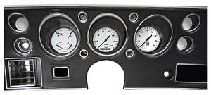 El Camino Gauge Conversion Kit, 1970-72 140 Mph Speedometer / 8,000 Rpm Tachometer White Hot, by Classic Instruments