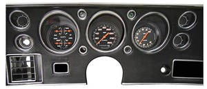 1970-1972 Chevelle Gauge Conversion Kit, 1970-72 160 Mph Speedometer / 10,000 Rpm Tachometer Velocity - Black, by Classic Instruments