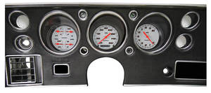 1970-1972 El Camino Gauge Conversion Kit, 1970-72 160 Mph Speedometer / 10,000 Rpm Tachometer Velocity - White, by Classic Instruments