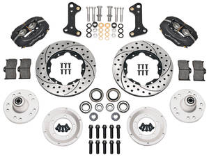 "1964-72 Tempest Brake Kits, Forged Dynalite Pro Series 11"" Front Drilled/Slotted Rotors"