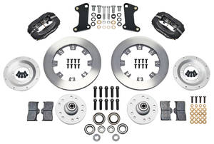 "1964-72 El Camino Brake Kit, Forged Dynalite 12"" Front (Big Brake) Plain Rotors"