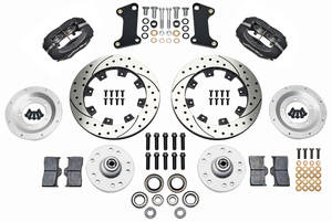 "1964-72 El Camino Brake Kit, Forged Dynalite 12"" Front (Big Brake) Drilled/Slotted Rotors"