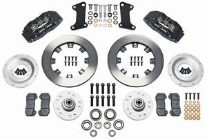 1964-72 LeMans Brake Kit, DynaPro 6-Piston Front (Big Brake) Plain Rotors