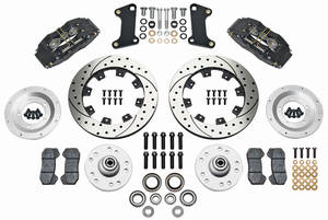1964-72 GTO Brake Kit, DynaPro 6-Piston Front (Big Brake) Drilled/Slotted Rotors