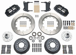 "1964-72 El Camino Brake Kit, Superlite 6-Piston Front (Big Brake) 13"" Slotted Rotors"