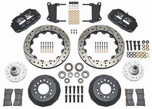 "1964-72 LeMans Brake Kit, Superlite 6-Piston Front (Big Brake) 13"" Drilled/Slotted Rotors"