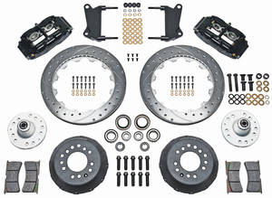 "1964-1972 El Camino Brake Kit, Superlite 6-Piston Front (Big Brake) 13"" Drilled/Slotted/Zinc Washed Rotors, by Wilwood"