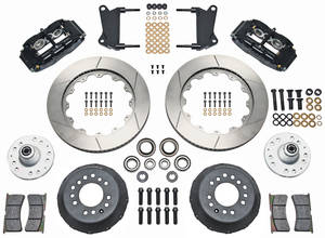 "1964-72 Cutlass/442 Brake Kit, Superlite 6-Piston Front (Big Brake) 14"" Slotted Rotors"