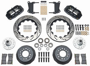 "1964-72 Chevelle Brake Kit, Superlite 6-Piston Front (Big Brake) 14"" Drilled/Slotted Rotors"