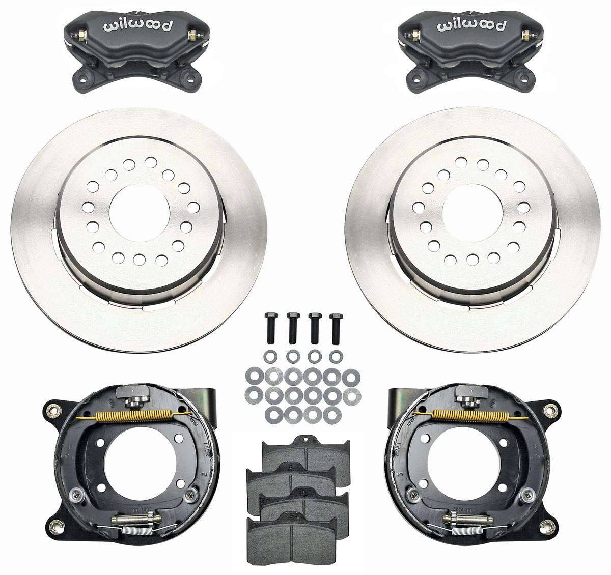 "Photo of Brake Kit, Forged Dynalite 12"" Rear Disc Plain Rotors 12-bolt w/C-Clip elim"