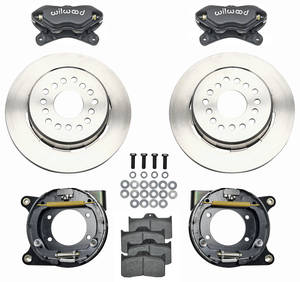 "1964-72 Chevelle Brake Kit, Forged Dynalite 12"" Rear Disc Plain Rotors"