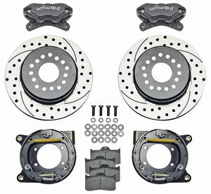 "1964-72 Chevelle Brake Kit, Forged Dynalite 12"" Rear Disc Drilled/Slotted Rotors"
