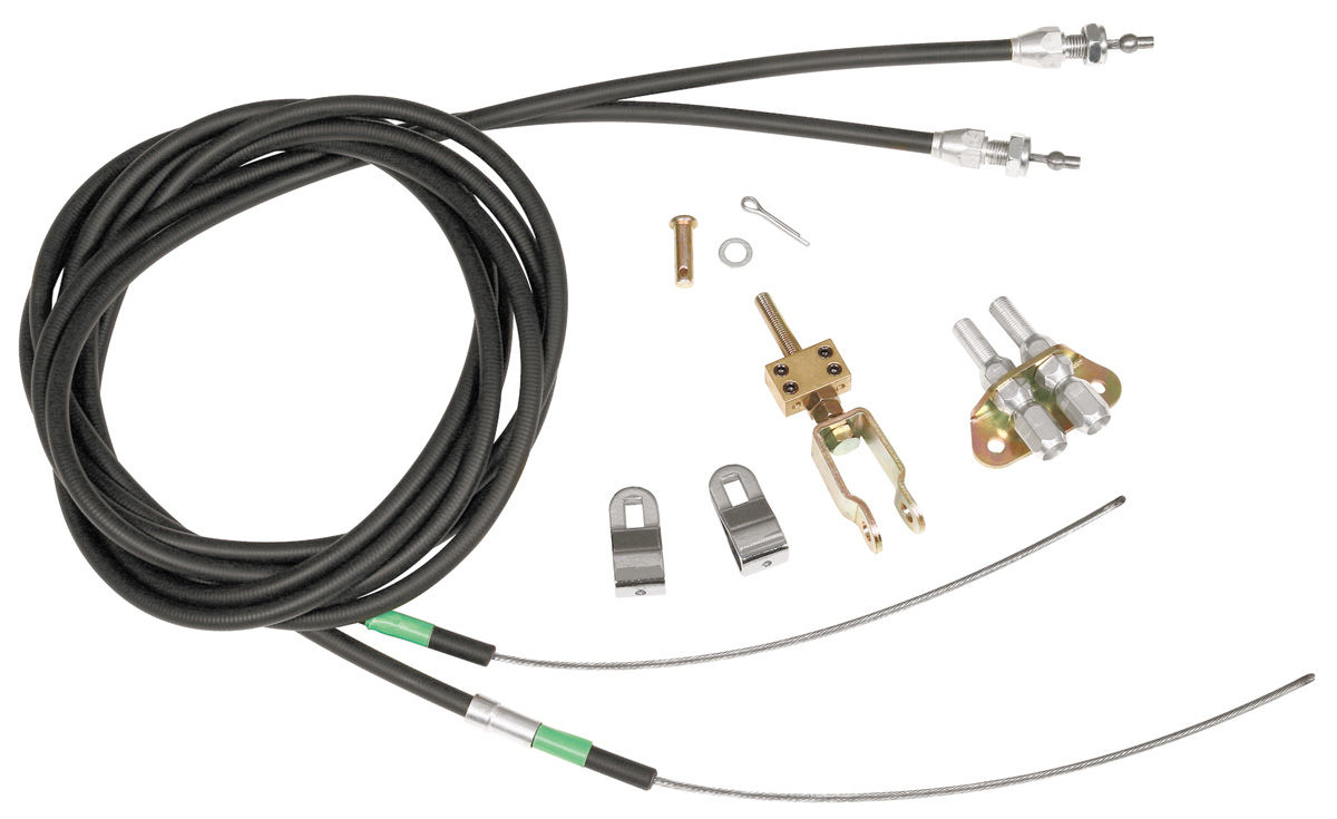 Wilwood Parking Brake Cable Kit, Rear Fits 1964-72 GTO