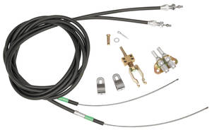 1964-72 Tempest Parking Brake Cable Kit, Rear, by Wilwood