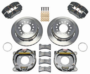 "1964-72 Chevelle Brake Kits, DynaPro Low-Profile 11"" Rear Disc Plain Rotors"