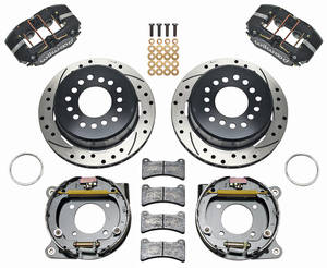 "1970-1972 Monte Carlo Brake Kit, 11"" Rear Disc (DynaPro Low-Profile) Drilled/Slotted Rotors, by Wilwood"