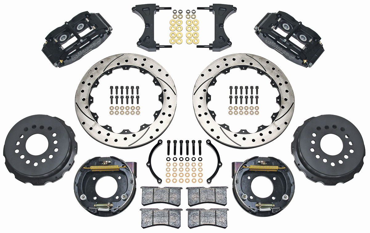 "Photo of Brake Kit, Superlite 13"" Rear Disc drilled/slotted rotors"
