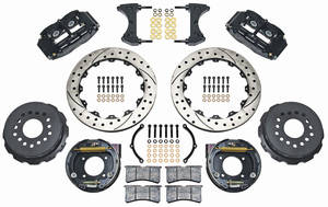 "1964-72 Chevelle Brake Kit, Superlite 13"" Rear Disc Drilled/Slotted Rotors"