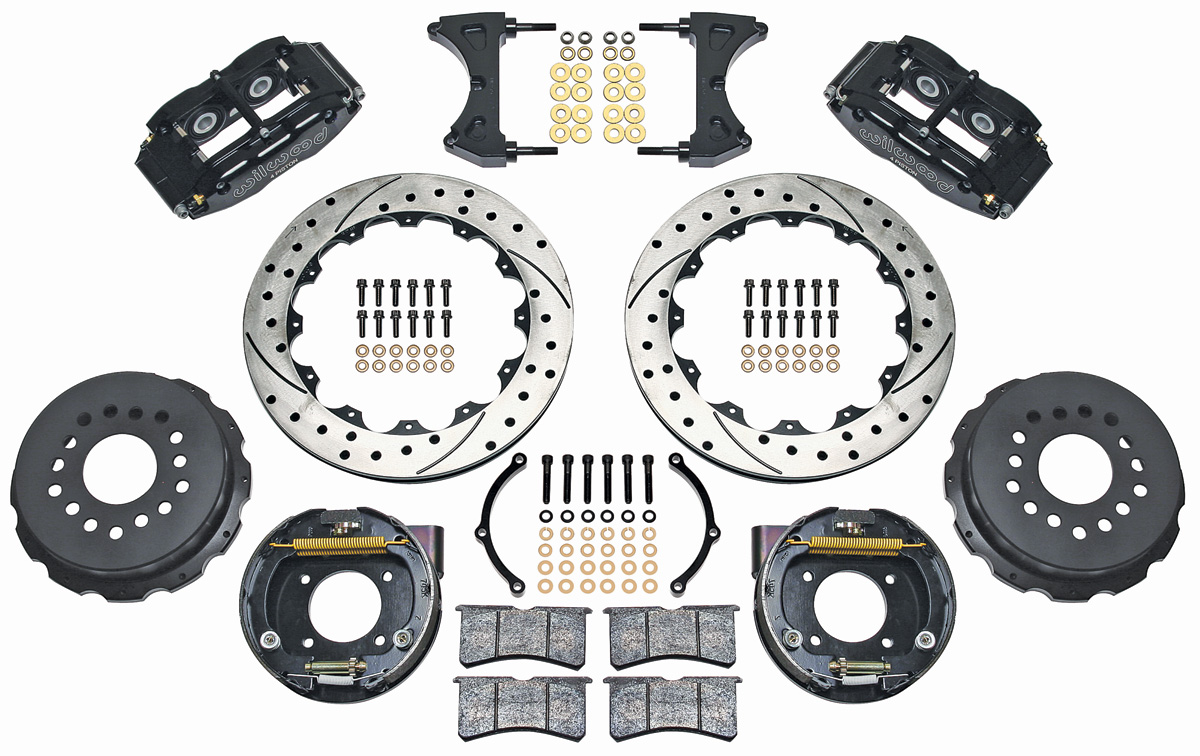 "Photo of Brake Kit, Superlite 13"" Rear Disc drilled/slotted/zinc washed rotors"