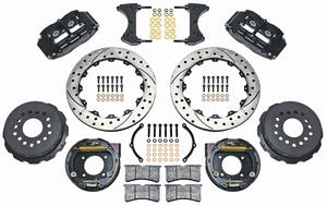 "1964-72 El Camino Brake Kit, Superlite 13"" Rear Disc Drilled/Slotted/Zinc Washed Rotors"