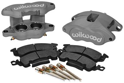 1964-72 Tempest Brake Caliper Kits, D52 Front Black Anodized, by Wilwood