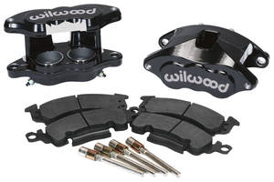 1964-72 LeMans Brake Caliper Kits, D52 Front Black Powder Coat
