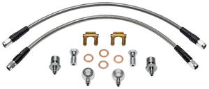 "1969-1972 Grand Prix Brake Lines for D52 Calipers, Stainless Steel (Grand Prix) w/ 7/16""-20 Banjo, by Wilwood"