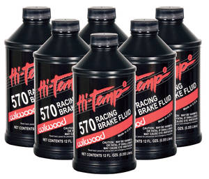 1961-1971 Tempest Brake Fluid High-Temp 570 Brake Fluid - 6-Pack, by Wilwood