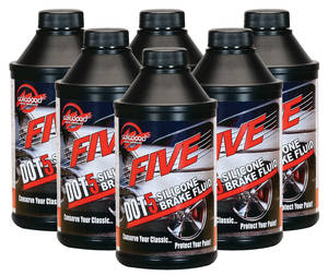 1964-77 Chevelle Brake Fluid Five Dot 5 Silicon Brake Fluid - 6-Pack