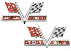 Chevelle Fender Emblems, 1965-67 Turbo-Jet 454
