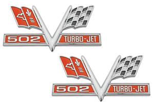 1965-1967 Chevelle Fender Emblems, 1965-67 Turbo-Jet 502