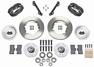 "1973 GTO Brake Kits, Forged Dynalite Pro Series 11"" Front Plain Rotors"