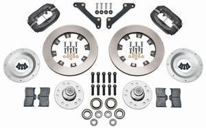 "1973-1977 El Camino Brake Kit, Forged Dynalite 12"" Front (Big Brake) Plain Rotors, by Wilwood"