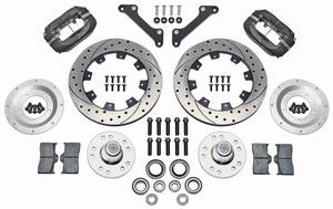 "1973 GTO Brake Kit, Forged Dynalite 12"" Front (Big Brake) Drilled/Slotted Rotors"