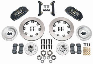 1973-1977 Chevelle Brake Kit, DynaPro 6-Piston Front (Big Brake) Plain Rotors, by Wilwood
