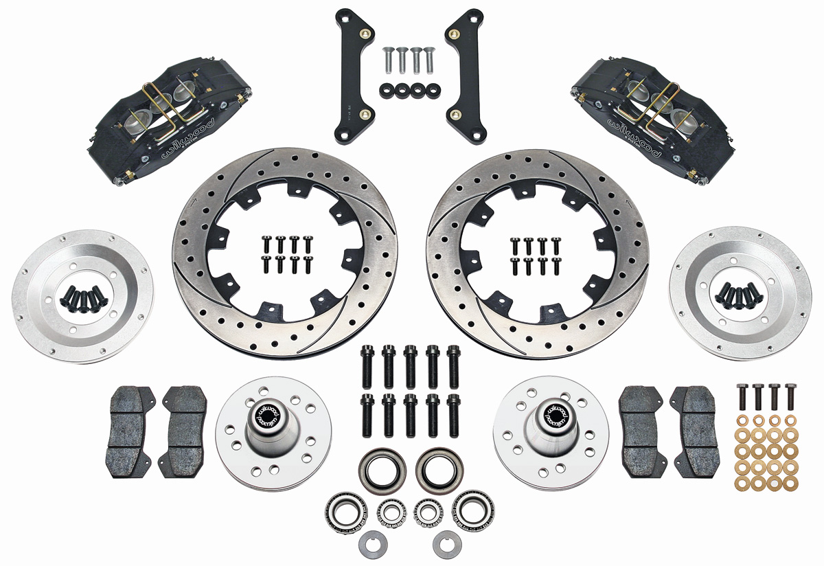 wilwood gto brake kit  dynapro 6 slotted rotors fits 1973 gto