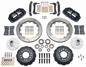 "1973-77 El Camino Brake Kit, Superlite 6-Piston Front (Big Brake) 13"" Slotted Rotors, by Wilwood"
