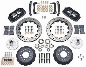 "1973-77 Chevelle Brake Kit, Superlite 6-Piston Front (Big Brake) 13"" Drilled/Slotted Rotors"