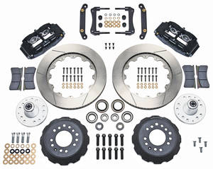 "1973-1973 GTO Brake Kit, Superlite 6-Piston Front (Big Brake) 14"" Slotted Rotors, by Wilwood"