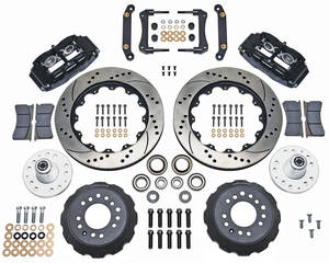 "1973-1977 Grand Prix Brake Kit, Superlite 6-Piston Front (Big Brake) 14"" Drilled/Slotted Rotors, by Wilwood"