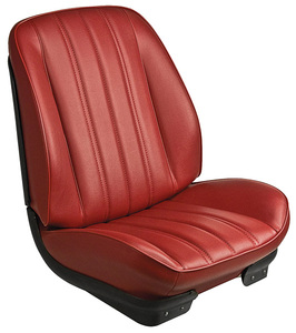 1966-1966 Chevelle Sport Seats Front Bucket Upholstery and Foam W/Convertible Rear Upholstery Only, by TMI