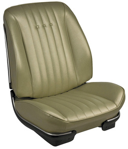 1968 Chevelle Sport Seats Front Bucket Upholstery and Foam W/Convertible Rear Upholstery Only
